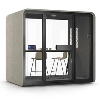 escritorios open Minisalas de reunião acústicas