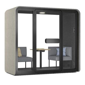 Minisalas de reunião acústicas open office