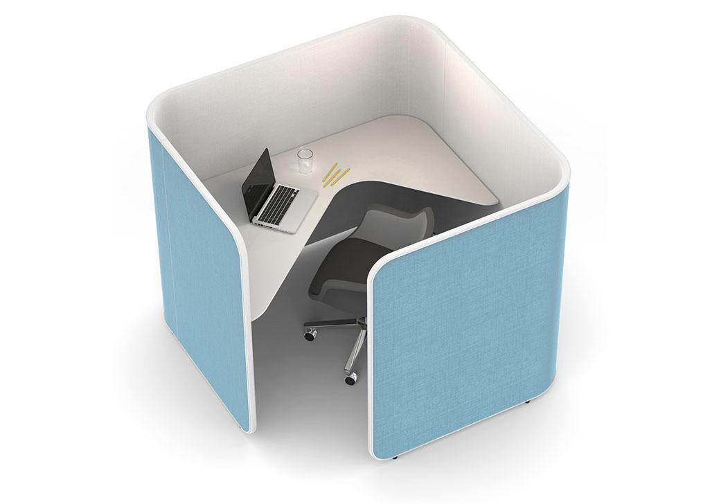 estacion individual de trabajo para oficinas abiertas y agile office