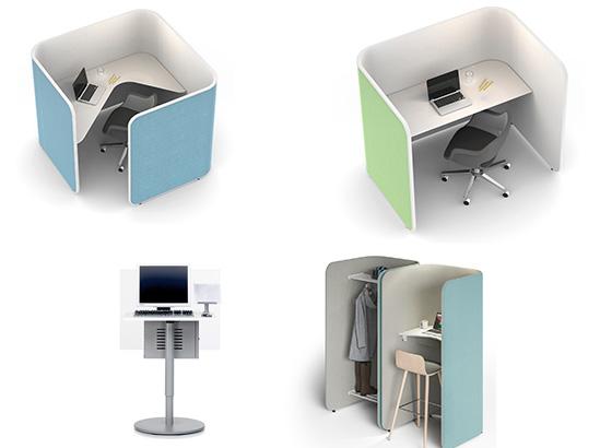 puestos de trabajo individuales para oficinas abiertas tipo cubículo