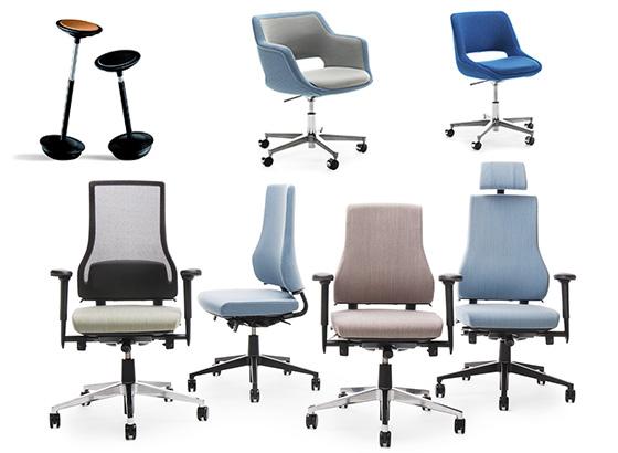 sillas y sillones para oficinas ágiles y abiertas