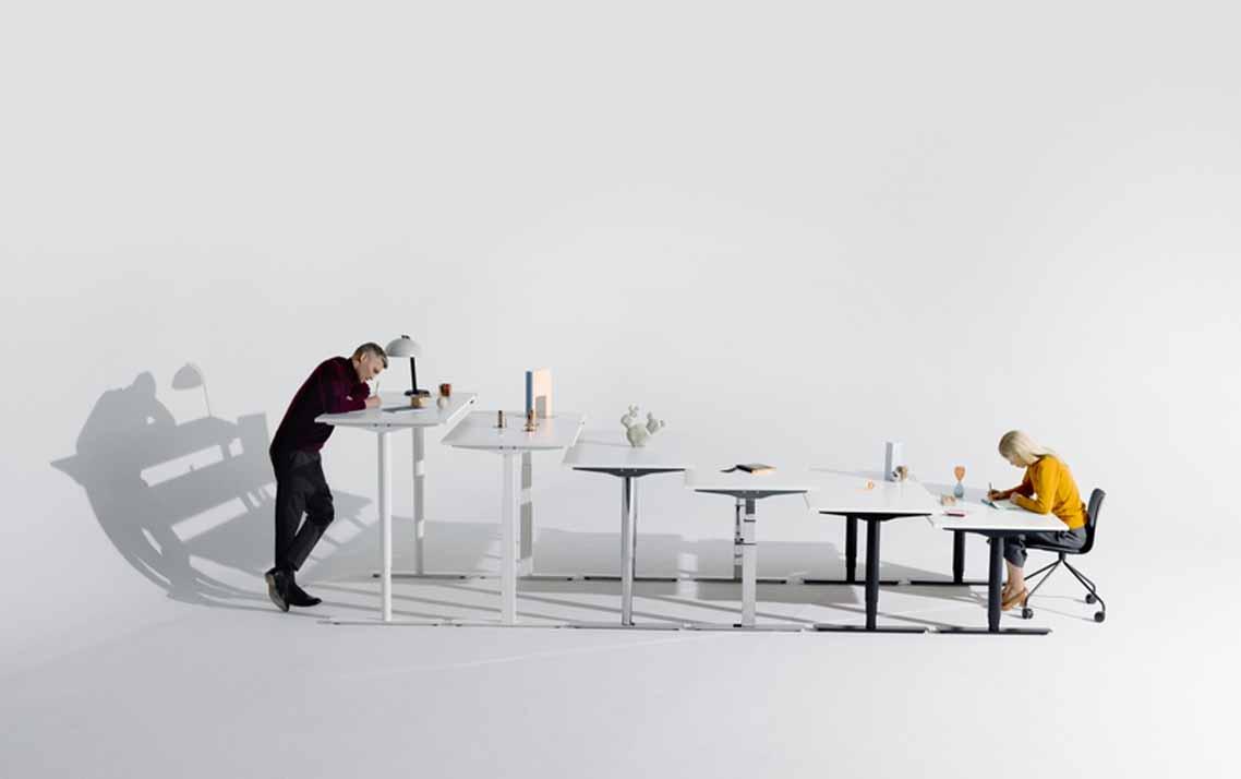 mesas de escritório de altura variável